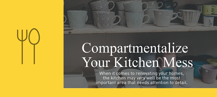 Compartmentalize Your Kitchen Mess - Feat